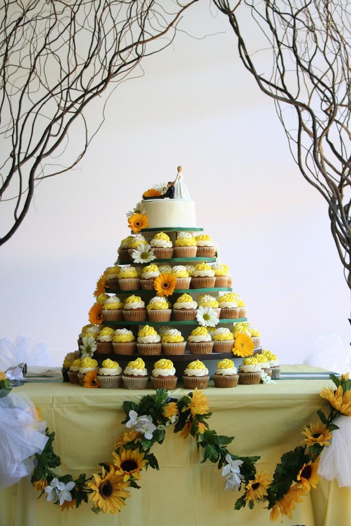Sunflower Cupcakes Raspbery