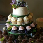 local flowers cupcakes
