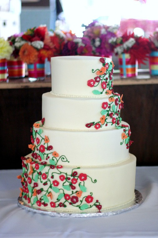 4 tier dainty flowers